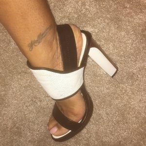 Bcbg black/white sandal